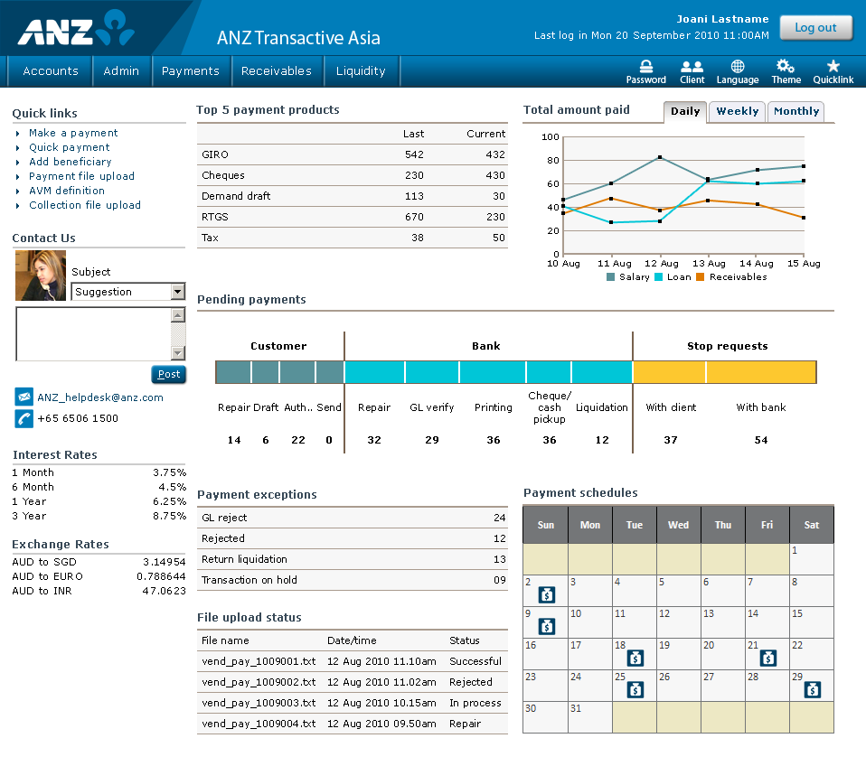 ANZ Transactive Asia payment