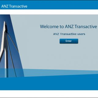 ANZ Transactive Welcome