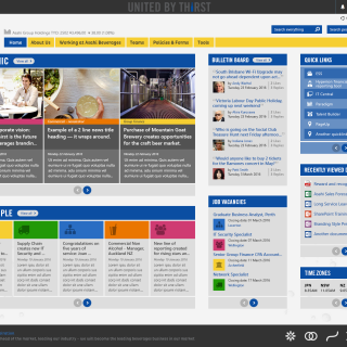 Asahi Office 365 Intranet Homepage
