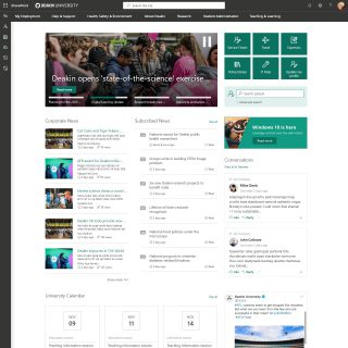 Deakin University Intranet Home