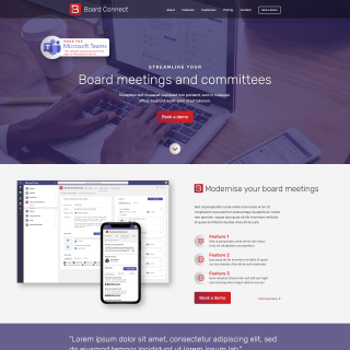 Board Connect Microsite - home