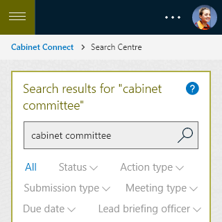 Cabinet Connect - Search Results mobile