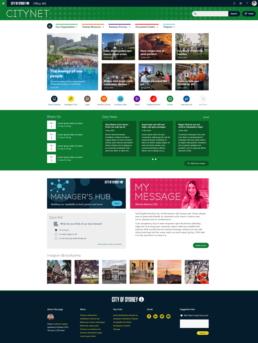City of Sydney - home page concept