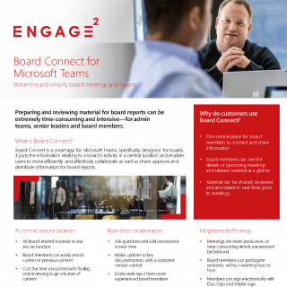 Board Connect flyer