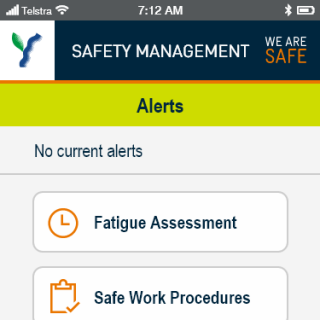 YVW safety app - opener