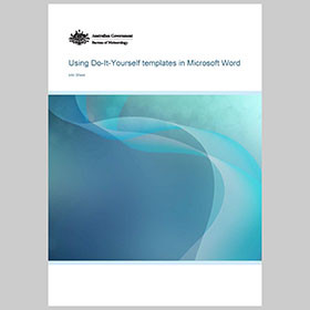 Info Sheet for using templates in Microsoft Word
