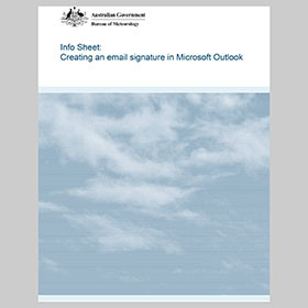Info Sheet for email signatures in Outlook