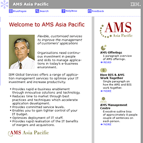 Brand design: AMS logo in use on IBM Intranet
