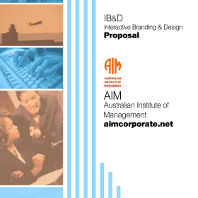 Print design: Proposal cover