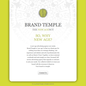 Brand Temple responsive site