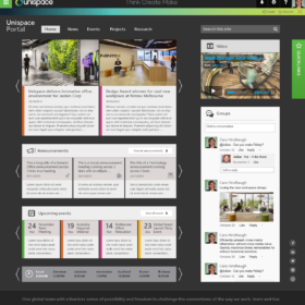 UniSpace Workplace Designers intranet