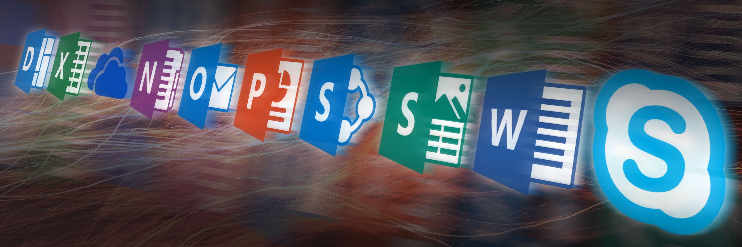 Office 365 product icons montage